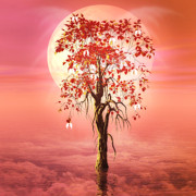 Tree Digital Art Prints - Where Angels Bloom Print by John Edwards
