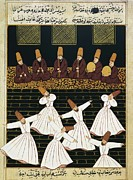 Ballet Dancers Prints - Whirling Dervishes 16th C.. Ottoman Print by Everett