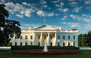 White Metal Prints - White House Sunrise Metal Print by Steve Gadomski
