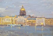 Saint Petersburg Prints - White nights Print by Victoria Kharchenko