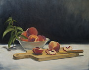 Wooden Bowl Originals - White Peaches by Roger Clark