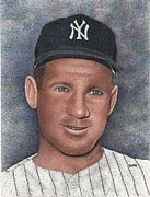 New York Yankees Drawings - Whitey Ford by Rob Payne