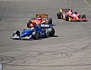 Indy Car Art - Wide in Turn 9 by Dave Koontz