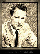 Award Drawings Prints - William Holden Print by George Rossidis