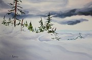 Snowscape Painting Metal Prints - Windblown Metal Print by Vaughn Butland