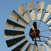Wind Vane Photos - Windmill and the Sky by Art Block Collections