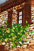 Altered Architecture Prints - Window in Provence Print by Eneida Gastal-Keith