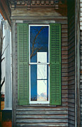 Egg Tempera Painting Prints - Window on the Past Print by Peter Muzyka