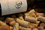 Sauvignon Prints - Wine and Corks Print by Stephanie Lindsay