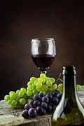 Merlot Posters - Wine concept Poster by Mythja  Photography