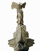 Nike Metal Prints - Wingel Victory Of Samothrace Or Nike Metal Print by Everett