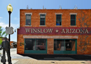 Music Metal Prints - Winslow Arizona on Route 66 Metal Print by Christine Till