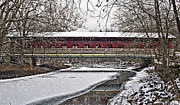 Winter Bridge Fine Art Print by Julie Kiefer