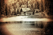 Photo Manipulation Mixed Media Posters - Winter Homestead-  Visions of Nt-Manufactured Objects-Nature Photography-Beauty Captured Groups Poster by EricaMaxine  Price