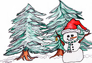 Winter Fun Drawings - Winter Wonderland by Minnie Lippiatt