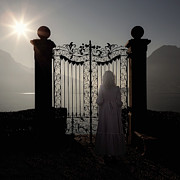 Mysterious Sun Art - Woman At Gate by Joana Kruse