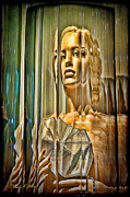 Signed Mixed Media - Woman in Glass by Chuck Staley