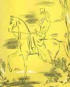 Thirties Drawings Posters - Woman Riding 1939 1930s Uk Riders Poster by The Advertising Archives