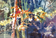 Forest Watercolor Art - Wood Song by Kris Parins