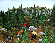 Barbara Griffin - Woodcutters and Black Lab