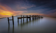 English Landscapes - Wooden Pier Sunset