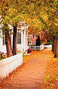 Picket Fence Prints - Woodstock Vermont Print by Brian Jannsen