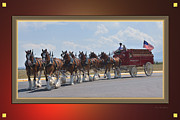 Kae Cheatham Framed Prints - World Renown Clydesdales Framed Print by Kae Cheatham