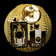 Camera Digital Art - World Travelers 3 Baseball Square by Andee Photography