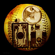 Camera Digital Art - World Travelers 4 Baseball Square by Andee Photography