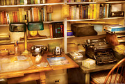Telephone Photos - Writer - The desk of a writer  by Mike Savad