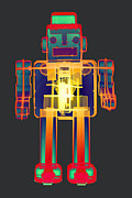 Giant Robot Posters - X-ray Robot BB No.1 Poster by Roy Livingston