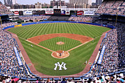Crowds  Framed Prints - Yankee Stadium Framed Print by Allen Beatty
