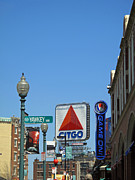 Fenway Park Framed Prints - Yawkey Way and Citgo Framed Print by Barbara McDevitt