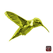 Animal Lover Digital Art - Yellow Hummingbird - 2054 F S by James Ahn