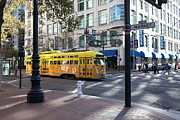 Wingsdomain Art and Photography - Yellow San Francisco Vintage Streetcar...