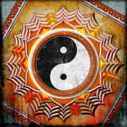 Yin Yang Posters - Yin Yang - The healing of the orange chakra. Poster by Dirk Czarnota