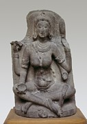 Yogi Prints - Yogi. 10th C. Hindu Art. Sculpture Print by Everett