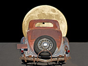 Family Car Framed Prints - You Me and the Moonlight Framed Print by Dave Koontz