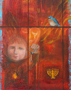 Child Praying Paintings - You Were a Child Once by Anne Cameron Cutri