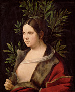 Famous Artists - Young Woman. Laura by Giorgione
