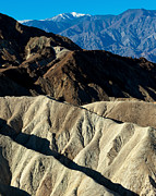 Panamint Valley Posters - Zabriskie Point and Telescope Peak Death Valley Poster by Troy Montemayor