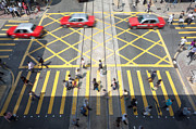 Tsui Photo Framed Prints - Zebra crossing - Hong Kong Framed Print by Matteo Colombo