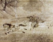 Horse Drawings Photo Prints - Zhao Mengfu  1254-1322. Capture Print by Everett