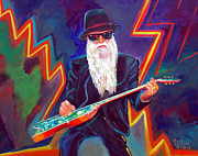 Rock And Roll Painting Originals - ZZ Top 3 by To-Tam Gerwe