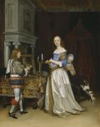 Gerard ter Borch -  Lady at her Toilette