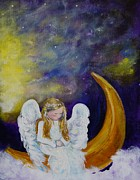 Guardian Angel Print Prints -  Little Angel Print by Leslie Allen