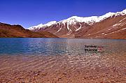 A Beautiful Lake On Himalayas Of Unforgetable Himachal In Incredible Iindia Fine Art Print by Sundeep Bhardwaj Kullu sundeepkulluDOTcom