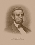 United States Presidents Framed Prints - Abraham Lincoln Framed Print by War Is Hell Store