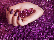 Nail Polish Colors Art - Abstract Woman Hand With Purple Nail Polish by Oleksiy Maksymenko