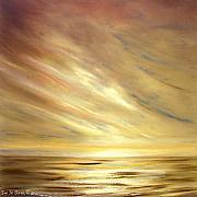 Sunsets Original Paintings - Another Golden Sunset by Gina De Gorna